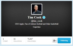 Apple CEO Joins Twitter - AppsGacdgetsETC.com